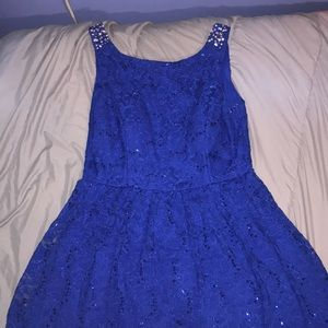 City Triangles Blue Formal Dress